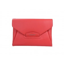 Givenchy Antigona Envelope Clutch Grained Leather Red