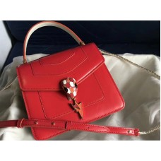 Bvlgari Flap Cover Serpenti Forever 18cm Calfskin White And Red