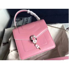 Bvlgari Flap Cover Serpenti Forever 18cm Calfskin White And Pink