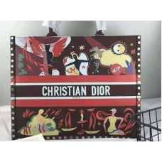 Dior Book Tote Suede Leather Fire Multicolor And Brown