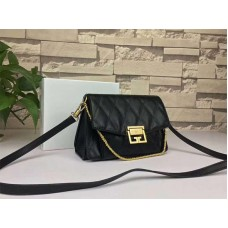 Givenchy gv3 Calfskin Quilted Leather Flap Bag Black