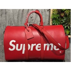 Louis Vuitton X Supreme Epi Leather Keepall Bandouliere 45 Red